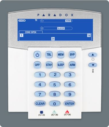 32-Zone Wireless Fixed LCD Keypad K37