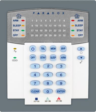 32-Zone Hardwired LED Keypad Module K32