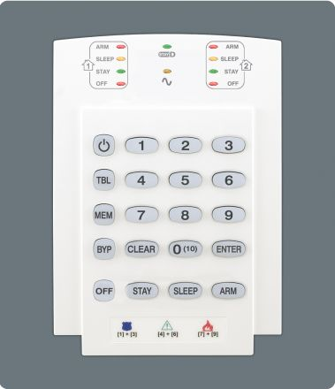10-Zone Hardwired LED Keypad Module K10V