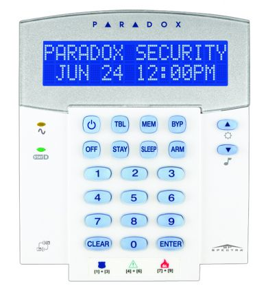 32-Character Hardwired LCD Keypad with built-in transceiver K32LX