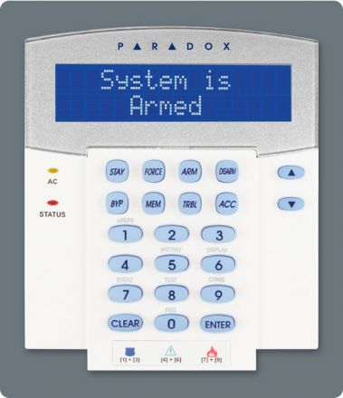 32-Character Blue LCD Keypad Module with Integrated Card Reader K641R